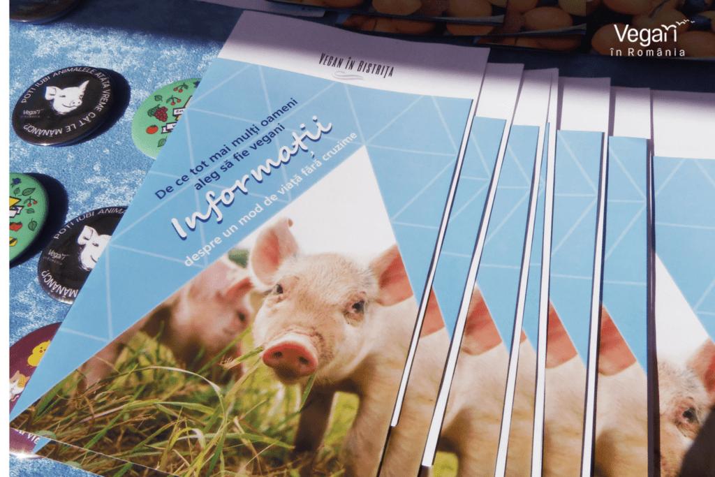 Brosuri cu informatii despre veganism Vegan in Romania