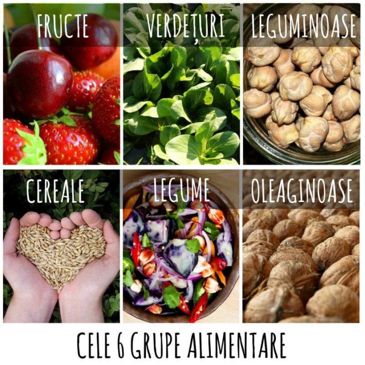 Cele 6 grupe alimentare